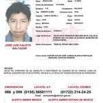 RT @elizamarmar: @Pajaropolitico #AlertaAmber #Buscamos JOSE LUIS CALIXTO BALTAZAR 15años #Desap 7/8/14 #Edomex ¿Lo has visto? RT http://t.co/20ZBoeiUBv