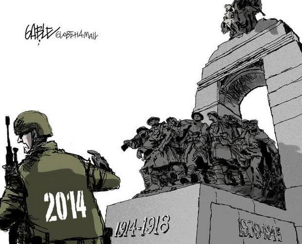 And here is Gable's @globeandmail editorial cartoon on today's #OttawaShooting http://t.co/1YH09HEfMn http://t.co/j3qJOrBKne