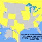 Duck fans from 21 states, as well as Canada, have purchased tks for the #UOvsCal game. #GoDucks #WearYellow http://t.co/iyFcpJgPWm