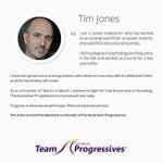 Tim Jones is another member of our @AusProgressive team Australia has a modern future http://t.co/QQfaTbcEIG #auspol http://t.co/x3Jw4qhnf8