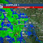 RT @KyleWeather: Rain moving across the OKC Metro. Amounts will be mainly light, but Ill take it! (7:15pm) #okwx http://t.co/uQpbGblYwO