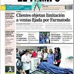 """Noticias del Mar de la Felicidad: """"Clientes objetan limitación a ventas fijada por Farmatodo"""" El Tiempo, Pto. La Cruz http://t.co/5Xk0ZNEEsX"""