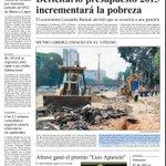 """""""Hace falta un sueldo de Bs. 60 mil para aspirar a un crédito para vivienda..."""" Primera plana de El Carabobeño 23-10 http://t.co/hHkSp34crb"""