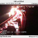 Heres the backup on I-84 WB in Troutdale. Time Saver: Use Halsey or Glisan WB. #pdxtraffic #Liveonk2 http://t.co/857rAwPY4x