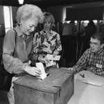 Mom never led in the polls - she was elected #TX gov b/c people showed up & voted. Ready to make history again? #tbt http://t.co/OQATHWm2ZB