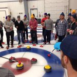 CURLING! RT @washcaps: Learning how to score some points. #CapsCurling