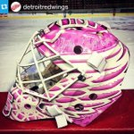 RT @NHL: Jimmy Howards mask for tonight when Detroit hosts their #HockeyFightsCancer Awareness Night. (via @DetroitRedWings). http://t.co/ZMcASdp7t7