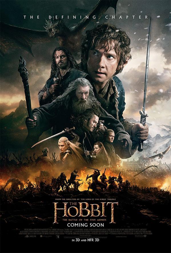 Póster final de 'El Hobbit: La Batalla de los Cinco Ejércitos' http://t.co/OEErgF6T5N