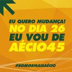 RT @MaisAecio: NO DIA 26 EU VOU DE AÉCIO. Compartilhe! Vamos mostrar que queremos um novo Brasil com @AecioNeves #Aecio45PeloBrasil http://t.co/KQK7cti3x7