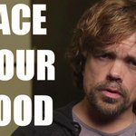 RT @peta: #GameOfThrones star #PeterDinklage challenges U to FACE UR FOOD.  WATCH what u are supporting: http://t.co/jGurbrgOlN http://t.co/zNWJdQbEIt