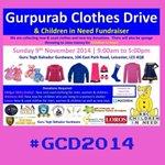 RT @AmanRaiX: @counciloffaiths *Upcoming #Leicester Event* #GCD2014 Gurpurab Clothes/Toy Drive & #ChildrenInNeed Fundraiser Pls RT http://t.co/yhgBI92ETz