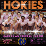 Don't forget #VTVB takes on Notre Dame tonight at 7! Come out to Cassell & wear pink for Breast Cancer Awareness. http://t.co/bsBo4R2dyd