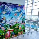 """A rainy South Florida day made brighter with baseball art // """"Playball!"""" by Kenny Scharf http://t.co/5py58rLBZn"""