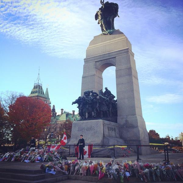 Respect to a fallen hero #OttawaStrong http://t.co/SKgyS6fm4s