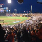 RT @Royals: #Royals and #Giants #StandUpToCancer in #WorldSeriesGame3 http://t.co/3bTmQ7A2b5