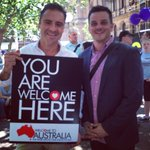 Andrew OKeefe and @bradchilcott ready to #walktogether in Sydney! http://t.co/1QCyEJUch4