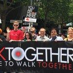 Everyones out to fight racism! In Melb w @ellensandell @vanbadham @gregmlc @janet_rice @tomcballard #WalkTogether http://t.co/nCJhWQnEPt