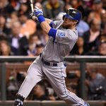 Alex Gordon doubled to score teammate Alcides Escobar in sixth inning of game 3 #Royals #WorldSeries http://t.co/0euK2Gza23