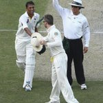 Pic of the day .Australian captain @MClarke23 congratulate Younis Khan after memorable and record hundred .#PakvAus http://t.co/l3fQGamy27