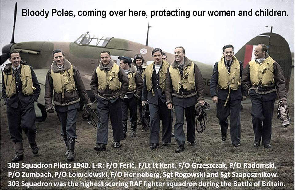 Those scapegoating #Poles in the #UK should meet their granddads. Battle of #Britain 1940 #RAF 303 Squadron http://t.co/vu8evu0CzJ