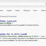 Do you think #Lysol can help prevent #Ebola from spreading? #Clorox http://t.co/TKI1XCjLtL http://t.co/3Pco3jhkbr