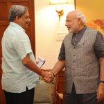 Goa Chief Minister Shri @manoharparrikar calls on Prime Minister Shri @narendramodi. http://t.co/HWNbneLfrr