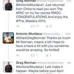 How cool is this... Greg Norman still looking out for the young Aussie golfers! http://t.co/hVmejeRHXT