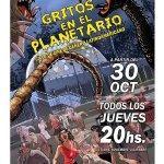 Hoy arranca #GritosEnElPlanetario de la mano de @Hernan_moyano. Todos los jueves a las 20hs en @PlanetarioLP #LaPlata http://t.co/XKp3RbVDsJ
