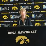 Lisa Bluder addresses the media at todays Media Day in Iowa City. #Hawkeyes http://t.co/bbdtvgVOPK