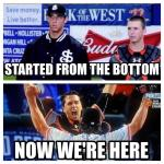 Posey, 27 Bumgarner, 25 6 World Series Rings between them  #ChampionsTogether #HomeGrown  (Via @AJ_Strong) http://t.co/PCws8v4M1Q