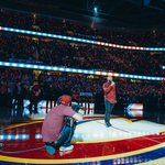 """Just me and Usher hanging out during the anthem. #NBD """"@Usher: National Anthem #CavsOpener http://t.co/9sR9A4G8ad http://t.co/uUUzAze9ow"""""""