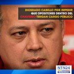 Diosdado Cabello pide impedir que opositores dentro del chavismo tengan cargo público http://t.co/NDD5Ltmnn7 http://t.co/R7Pq5Mt2uu