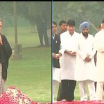Cong Prez Sonia Gandhi & Vice Prez Rahul Gandhi pay floral tribute to mark Indira Gandhis death anniversary. http://t.co/ynqzfg9RbF