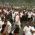 Respect! PM @narendramodi running like a common Man,gets people moving #RunForUnity #IndiraGandhi @anilkohli54 #Delhi http://t.co/OVmtGj5Oxe