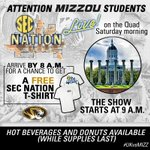 24 hours until #SECNation starts on The Quad - see you starting at 8 am tomorrow! http://t.co/WbHrSoTPqK