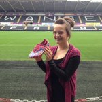 WINNER: Alex Davies collects her signed matchworn Nathan Dyer boots after winning last weeks #CompetitionTuesday http://t.co/ggLEWcLKwc