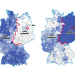 The Berlin Wall fell 25 years ago - but Germany is still divided http://t.co/Rl2ONn8MUc http://t.co/N008QkA44j