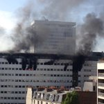 """Impressionnant """"@fannylechevestr: Incendie Maison de la radio. Explosion. http://t.co/FymKpnl3Qf"""""""