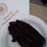 The chocolate layer cake Obama bought at @GreggsUSA. http://t.co/bVeAuHoKsi