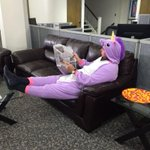 No big deal. Just @AnswerManBoyle in a purple unicorn onesie. #avlnews http://t.co/oGB3dGuLgY