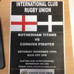 Match poster for our next international club match vs @CornishPirates1 #rotherhamiswonderful #sheffieldissuper http://t.co/IBLuOBbQZL