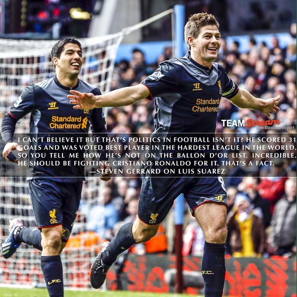 Luis Suarez And Steven Gerrard Reunited: Steven Gerrard Says Only 'politics In Football' Denied