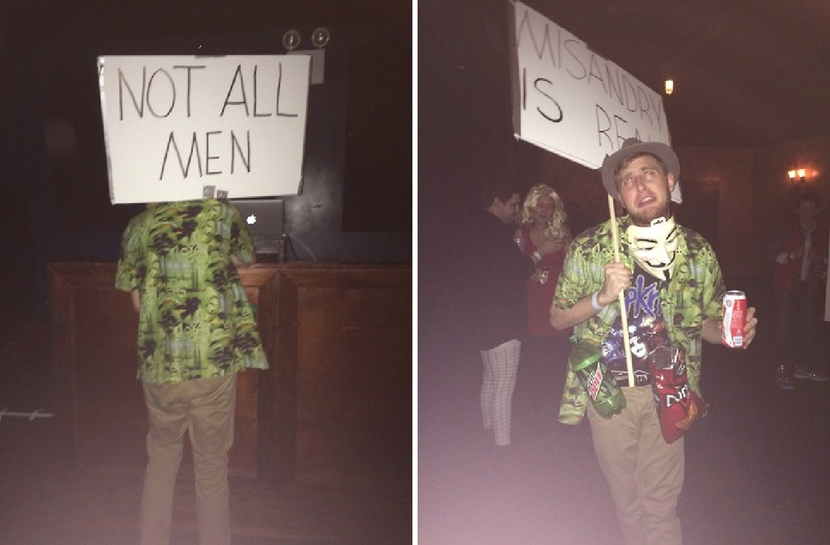 LOL literal best halloween costume i've seen this year http://t.co/xX09GmPgPN