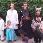 Happy Halloween! w/ @kbaxter56 and our crew...chemist, universe, owl, vampire-witch, karate-dog & Let It Go song http://t.co/0GudMBDeRO