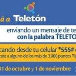 No olvides que también podés hacer tus donaciones a @TeletonParaguay a través de @TigoParaguay. #Ponelecorazón http://t.co/bhcFjoFrJj
