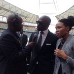 Home Affairs Minister Malusi Gigaba arriving at Moses Mabhida Stafium for #SenzoMeyiwa s funeral service #SABCNews http://t.co/32uclk6dlW