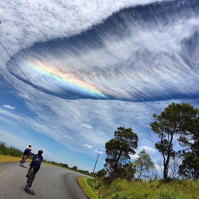 Crazy clouds out near Inverloch on today's #mondaysickie ride. Photo by @hells500 http://t.co/AUTTXWjPdG