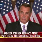 """With this action, [Pres. Obama has] refused to listen to the American people."" @SpeakerBoehner on #immigration http://t.co/KSJK36ksEj"