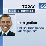 President Obama on #Immigration Executive Order in Las Vegas – LIVE at 3:55pm ET on C-SPAN http://t.co/WMjspce2dt http://t.co/JbxTmEnlvy