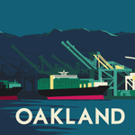 .@ChgoHoods nailed these travel postcards of major container terminals we're doing for the Container Guide. Oakland: http://t.co/UXCxSap1ZP